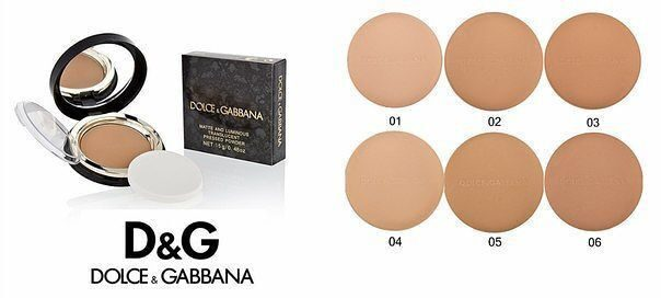 DOLCE & GABBANA matte and luminous translucent pressed powder