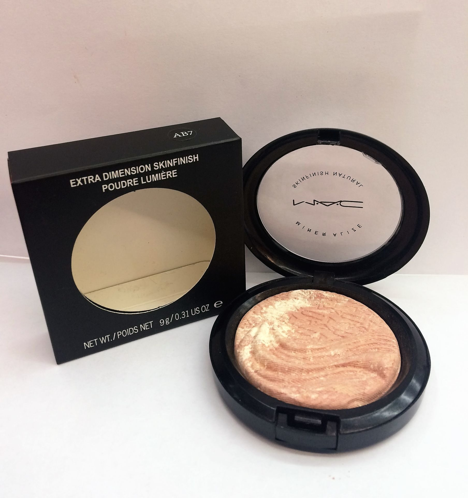 MAC AB7 extra dimension skinfinish  poudre lumiere