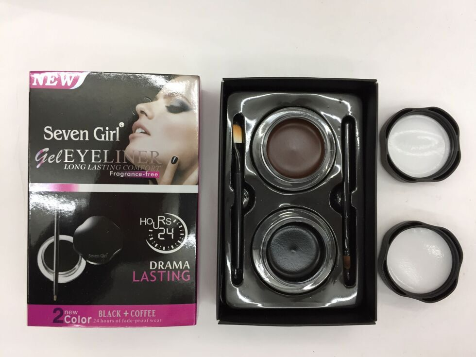 Подводки Seven Girl  Gel Eyeliner Black+Coffee 24h