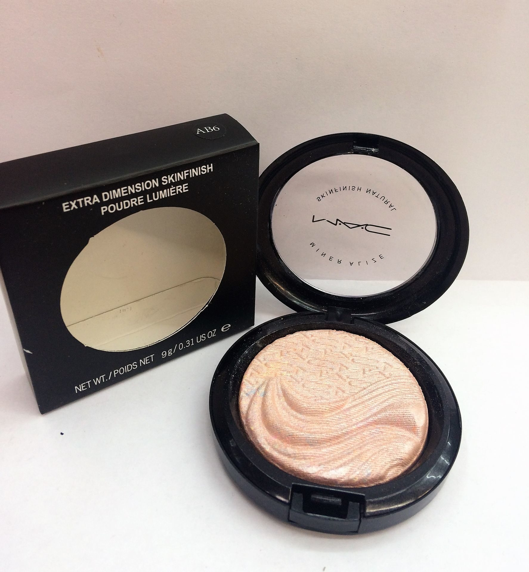 MAC AB6 extra dimension skinfinish poudre lumiere