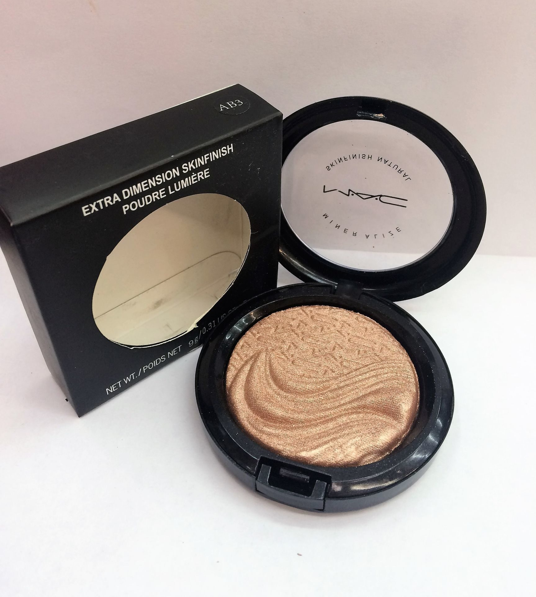 MAC AB3 extra dimension skinfinish poudre lumiere